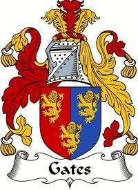 Gates Coat of Arms - English