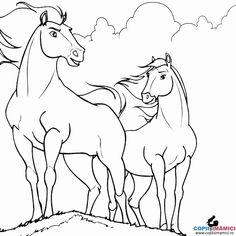 Desene de colorat Plansa De Colorat Cu Cai - Planse de colorat cu CAI