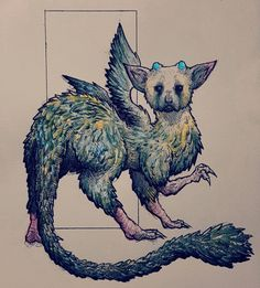 I drew Trico from The Last Guardian! http://ift.tt/2hQxVw9