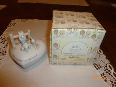 Precious Moments 1982 I'm Falling For Somebunny and it happens to be you Trinket w/Box E-9266 by 2xisnice on Etsy