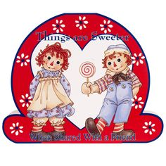 Image detail for -Raggedy Ann And Andy Sharing - Raggedy Ann and Andy Fan Art (9461774 .....cute shaped card...
