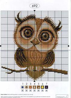 chouette-owls-cross stitch-point de croix-embroidery: