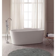 The Aria soaking tub will be your partner in indulgence. With its striking freestanding design and generous basin area, Aria provides a beautiful and luxurious centerpiece to your bathing area.