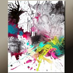 Letting Go - NEW Abstract Canvas Art  16x20 Contemporary Modern by wostudios, $69.00