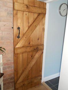 Hand made braced stable door