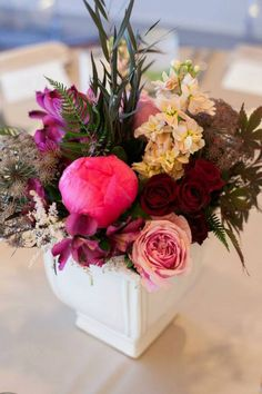 Give mom a rustic red & pink arrangement for Mother's Day!