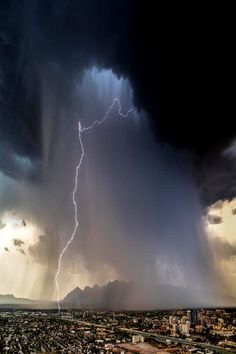 rain and lightning - Nature's Whip!