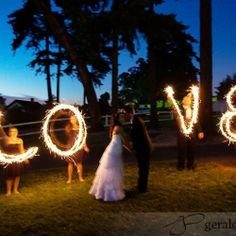 Sparklers make for amazing photos at your wedding! Take a look at this inspiration board for some creative ideas! (image via Gerald Pope)