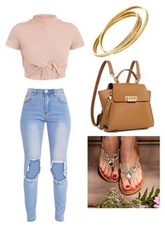 """""""The Barcelona in Gold"""" by helendavis7 on Polyvore featuring ZAC Zac Posen, Cartier, gold, shoes, sandals and barcelona"""