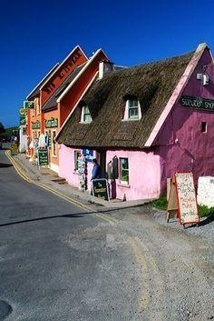 Doolin Village in County Clare, Ireland The Quiet Man museum, Cong, Co. Mayo, Ireland Cloonacauneen Castle, Galway, Ireland. Kylemore C