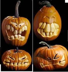 Scary Pumpkin Carving, Halloween Pumpkin Carving Stencils, Halloween Pumpkin Designs, Scary Halloween Pumpkins, Pumpkin Carving Contest, Amazing Pumpkin Carving, Creepy Halloween Decorations, Fall Halloween, Pumpkin Carvings