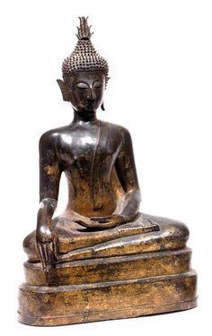 Nord-Thaïlande/Laos, fin de la période Ayutthaya, XVIIe siècle. Haut. 48 cm