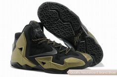 low priced 5de62 24b35 Nike LeBron 11 Black Gold Basketball Shoes. cheap lebron 11 shoes sale  online - www