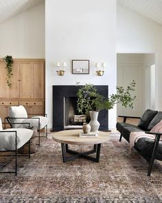 Rugs In Living Room, Home And Living, Living Spaces, Living Room Styles, Living Room With Color, Living Room Neutral, Room And Board Living Room, Living Room Paintings, Interior Design Living Room