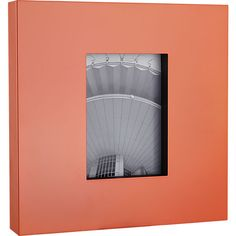 kat neon peach 5x7 picture frame  | CB2 $34.95