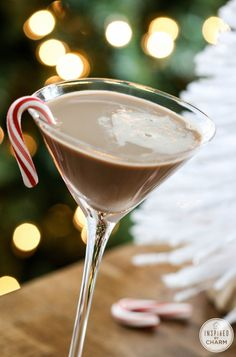 A Collection of Holiday Cocktails: Peppermint Mocha Martini