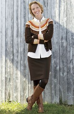 Absolutely LOVE everything about this outfit. Will go perfect will my red hair! (country Fair Isle cardigan sweater from J.Jill)