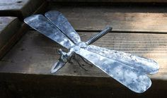 Dragonfly Metal Sculpture Yard Art Garden by rustaboutcreations, $46.95