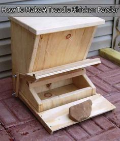 How To Make A Treadle Chicken Feeder - LivingGreenAndFrugally.com