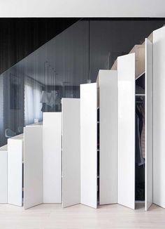 Hidden stairs storage …