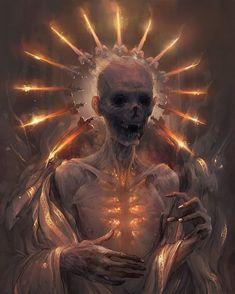 Forever Burning Heart by apterus on DeviantArt Dark Fantasy Art, Fantasy Artwork, Arte Horror, Horror Art, Art Sombre, Art Sinistre, Dark Artwork, Music Artwork, Skeleton Art