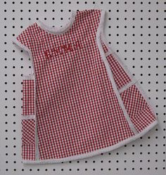 Lucy, this is a little apron dress just like my Grandma used to make for me.  Wouldn't you look cute in it?