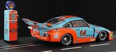 PORSCHE 935/77 GULF / SIDEWAYS  New Racing Colors Collection model. This time Sideways has used the Porsche 935/77 at 1:32 scale for slot to dress it with mythical Gulf Oil company colors. Also with every car retro gasoline pump of the same Gulf brand is delivered. This model is available today in most of the French brand distribu...     @slotnerd #sportscar