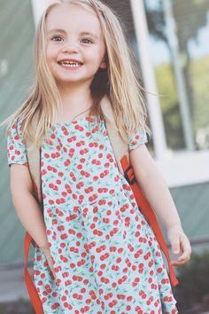 Get ready for Back-to-School with Merrick White's simple #DIY little girl's dress