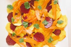 Beet Carrot Salad with Curry Oil Dressing