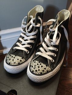 7cdcfb73a031 Items similar to Converse Blinged Shoes