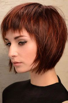 Awesome Bob Hairstyles Bangs Ideas17