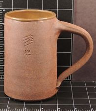 Mug Cup Stoneware unknown artist 1976 vintage Brown Clay Hand Made Pottery