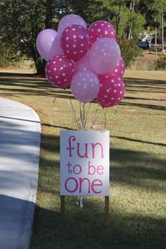 "Photo 1 of 15: pink ballerina / Birthday ""Fun to be One"" 