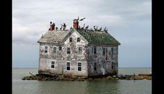 La última casa en la Isla de Holland en Maryland, Estados Unidos. (Foto: huffingtonpost.es)