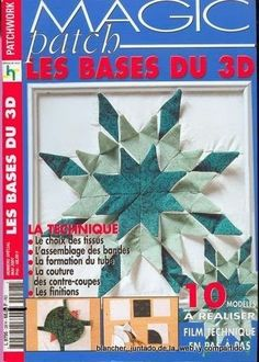 Patchwork - rosotali roso - Álbuns da web do Picasa Origami Quilt, Origami 3d, Fabric Origami, 3d Quilts, Star Quilts, Quilt Blocks, Lone Star Quilt, Sewing Magazines, Crochet Books