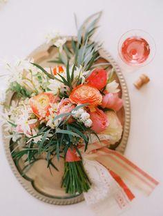 wine + flowers