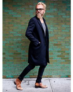 I'm taking it to NY Fashion week for this week's Wednesday Men's Day post at www.emikovaughn.com Image via 5x7: A Fashion Week Photo Journal with Ben Ferrari: Style: GQ