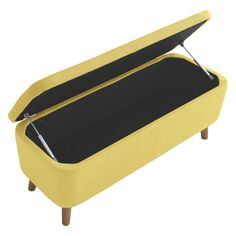 JACOBS Saffron yellow upholstered storage bench | Buy now at Habitat UK