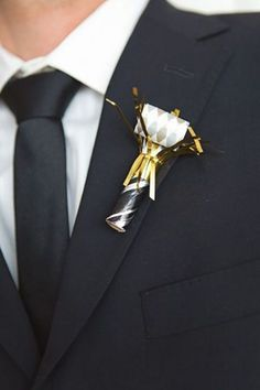Celebration-inspired boutonniere.