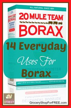 14 Everyday Uses For 20 Mule Team Borax! is part of Cleaning Have you ever used 20 Mule Team Borax I used it when my oldest was a baby I used it in her cloth diaper pail, yeah, I tried the whole c - Household Cleaning Tips, Cleaning Recipes, House Cleaning Tips, Deep Cleaning, Spring Cleaning, Cleaning Hacks, Borax Cleaning, Cleaning Supplies, Household Cleaners