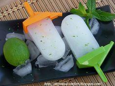 Lime Ginger Mint Popsicles...ummmmm!