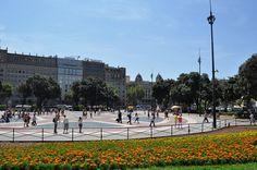 BARCELONA - Plaza de Cataluña