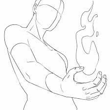 Body Kun & Body Chan – Manga Figures for Artists … – Drawing Ideas Drawing Base, Manga Drawing, Drawing Sketches, Art Drawings, Drawing Flames, Fire Drawing, Comic Drawing, Sketching, Drawing Body Poses