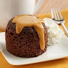 Chocolate Peanut Butter Mug Cakes | MyRecipes.com