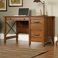 desk with one row of drawers - Google Search