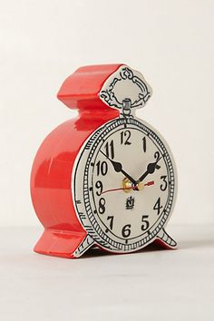 Tick-Tock Clock #anthropologie - This looks like something that Alice would love!