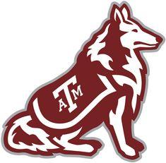 Texas A&M Aggies Mascot Logo (2001) - Aggies mascot - a Rough Collie dog named Reveille