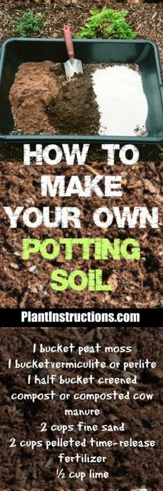 Homemade Potting Soil #containergarden