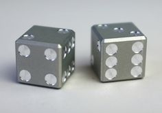 Machined Aluminum Dice #IncredibleThings