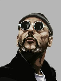 randome shuffle portrait leon the professional, played by jean reno. done in photoshop. Jean Reno, Leon The Professional, Leon Matilda, Art Sketches, Art Drawings, Arte Do Hip Hop, Comics Und Cartoons, Urbane Kunst, Movie Poster Art